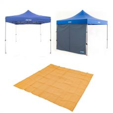 Adventure Kings - Gazebo 3m x 3m + Gazebo Side Wall + Mesh Flooring 3m x 3m