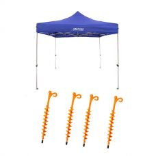 Adventure Kings - Gazebo 3m x 3m + 4x GroundGrabba - Lite
