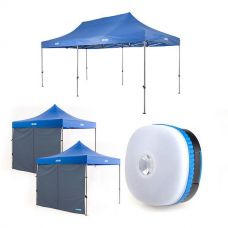 Adventure Kings - Gazebo 6m x 3m + 2x Adventure Kings Gazebo Side Wall + Mini Lantern