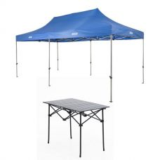 Adventure Kings - Gazebo 6m x 3m + Aluminium Roll-Up Camping Table