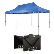 Adventure Kings - Gazebo 6m x 3m + Portable Steel Fire Pit