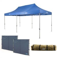 Adventure Kings - Gazebo 6m x 3m + 2x Adventure Kings Gazebo Side Wall + Roof Top Canvas Bag