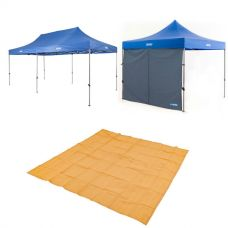 Adventure Kings - Gazebo 6m x 3m + Gazebo Side Wall + Mesh Flooring 3m x 3m