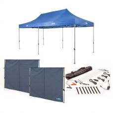 Adventure Kings - Gazebo 6m x 3m + 2x Gazebo Side Wall + Illuminator 4 Bar Camp Light Kit