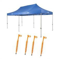 Adventure Kings - Gazebo 6m x 3m + 4x GroundGrabba - Lite