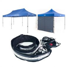 Adventure Kings - Gazebo 6m x 3m + Adventure Kings Gazebo Side Wall + Illuminator MAX LED Strip Light