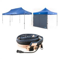 Adventure Kings - Gazebo 6m x 3m + Adventure Kings Gazebo Side Wall + Adventure Kings LED Strip Light