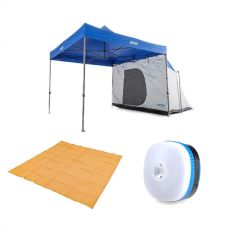 Adventure Kings Gazebo Hub + Mesh Flooring 3m x 3m + Mini Lantern