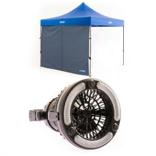 Adventure Kings Gazebo Side Wall + 2in1 LED Light & Fan