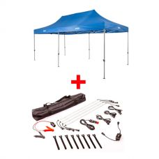 Adventure Kings - Gazebo 6m x 3m + Illuminator 4 Bar Camp Light Kit