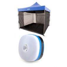 Adventure Kings Gazebo Mosquito Net + Mini Lantern
