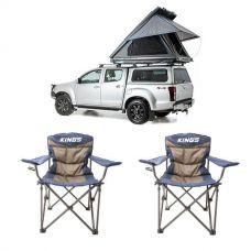 Grand Tourer MKII Aluminium Rooftop Tent + 2x Adventure Kings Throne Camping Chair