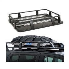Steel Single Cab Roof Rack + Half-Length Premium Waterproof Rooftop Bag