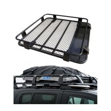 Steel Roof Rack 1/2 Length + Half-Length Premium Waterproof Rooftop Bag