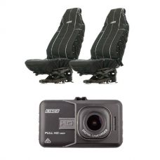 Adventure Kings Dash Camera + Adventure Kings Heavy Duty Seat Covers (Pair)