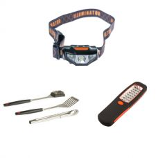 Adventure Kings BBQ Tool Set + Illuminator 24 LED Work Light + Illuminator LED Head Torch