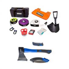 Hercules Complete Recovery Kit + Three Piece Axe, Folding Saw and Knife Kit