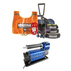 Hercules Complete Recovery Kit + Thumper 12v Air Compressor 160L/M 150PSI