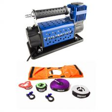 Hercules Essential Nylon Recovery Kit + Thumper 12v Air Compressor 160L/M 150PSI