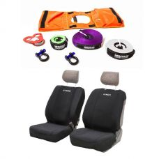 Hercules Essential Nylon Recovery Kit + Adventure Kings - Neoprene Front Seat Covers (Pair)