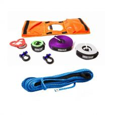 Hercules Synthetic Winch Rope - 9mm x 28m + Essential Nylon Recovery Kit