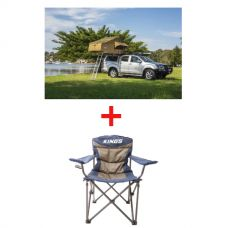 Adventure Kings Roof Top Tent + Adventure Kings Throne Camping Chair
