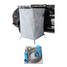 Kings Instant Ensuite Awning Shower Tent + 12v Portable Shower Kit