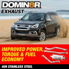 Domin8r Stainless Steel Exhaust Suitable For Isuzu MUX RF 3.0 LITRE 2012 ONWARDS