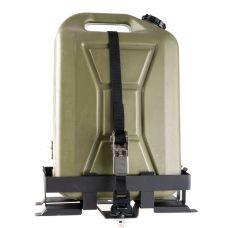 Kings Aluminium Platform Roofrack Jerry Can Holder | Suits 10L & 20L Jerrycans | Fits Kings Platform Roofracks | Inc. Mounting Strap