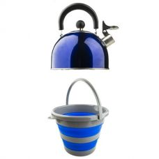 Adventure Kings Collapsible 10L Bucket + Camping Kettle