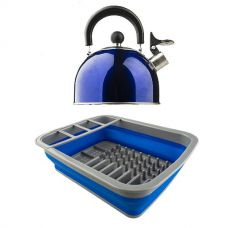 Adventure Kings Camping Kettle + Adventure Kings Collapsible Dish Rack