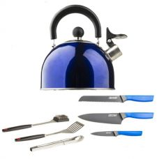 4-Piece Camping Chef's Knives Kit + Adventure Kings BBQ Tool Set + Camping Kettle