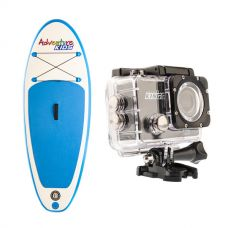 Kids Inflatable Stand-Up Paddle Board + Adventure Kings Action Camera