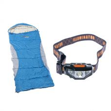Kings -2°C Kids' Sleeping Bag + Illuminator LED Head Torch