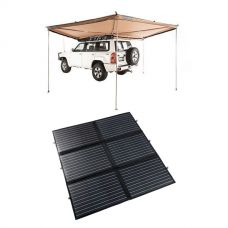 Adventure Kings 200W Portable Solar Blanket + 270° King Wing Awning