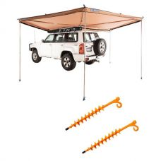 Adventure Kings 270° King Wing Awning + 2x GroundGrabba - Lite