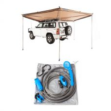 Adventure Kings 270° King Wing Awning + Portable Shower Kit