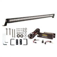 """Kings 40"""" Slim Line LED Light Bar + Bar Wiring Harness + Sliding Brackets for Slim Line Light Bars (Pair)"""