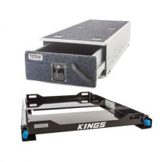 Titan Single Ute Drawer 1300mm + Kings 60L Fridge Slide