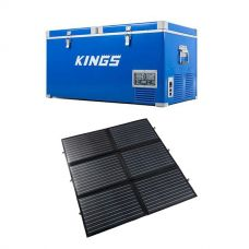 Kings 90L Camping Fridge Freezer | Dual Zone + Adventure Kings 200W Portable Solar Blanket