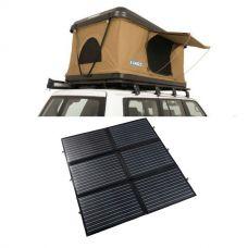 Kings Kwiky MKII Hard Shell Rooftop Tent + 200W Portable Solar Blanket