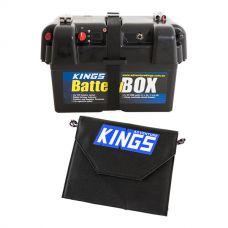 Kings 10W Portable Solar Panel + Battery Box