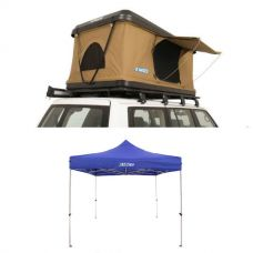 Kings Kwiky MKII Hard Shell Rooftop Tent +  Gazebo 3m x 3m