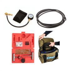 Thumper Air Hose Extension 4m + Canvas Thumper Bag + Kwiky Tyre Deflator + Tyre Repair Kit