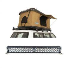 "Kings Kwiky MKII Hard Shell Rooftop Tent + 24"" Laser Light Bar"