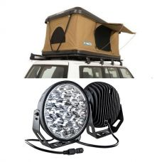 """Kings Kwiky MKII Hard Shell Rooftop Tent + Kings 9"""" LED Driving Lights (Pair)"""