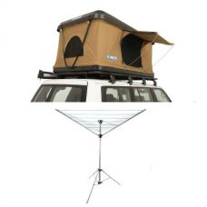 Kings Kwiky MKII Hard Shell Rooftop Tent + Camping Clothesline