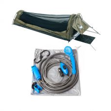 Adventure Kings Single Swag - Kwiky + 12v Portable Shower Kit