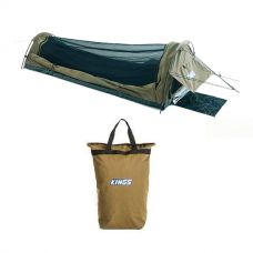 Adventure Kings Single Swag - Kwiky + Doona/Pillow Canvas Bag