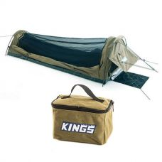 Adventure Kings Single Swag - Kwiky + Toiletry Canvas Bag